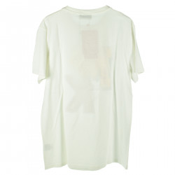 WHITE T SHIRT WITH FRONTAL COLORED PRINT