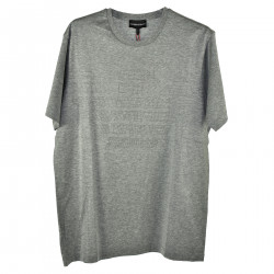 GRAY T SHIRT WITH RELIEF INSERT