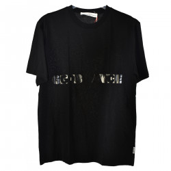 T SHIRT NERA CON STAMPA