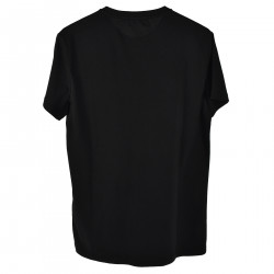 T SHIRT NERA CON STAMPA FRONTALE