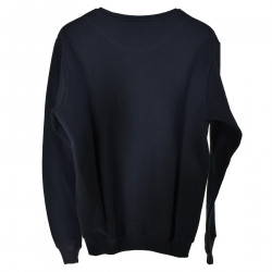 BLUE SWEATSHIRT WITH COLORED EMBROIDERY