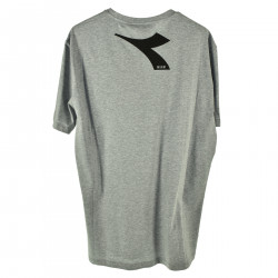 GRAY T SHIRT WITH FRONTAL LOGO