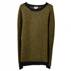 BLUE AND YELLOW PIE DE POUL SWEATER