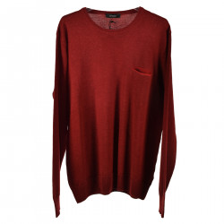 RED LONG SLEEVES SWEATER WITH POCKET