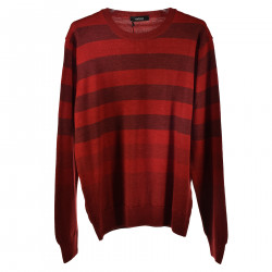 RED AND BORDEAUX LONG SLEEVES SWEATER