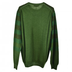 GREEN STRIPED PULLOVER