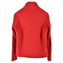 PASCAL FUR BONDED RED SWEATSHIRT