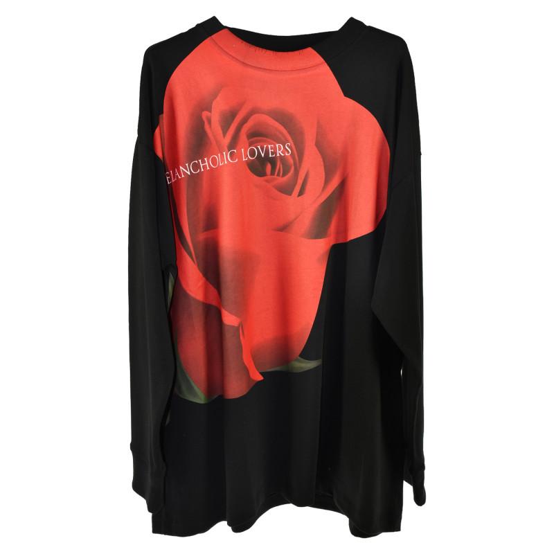 Marcelo Burlon Trovaprezzinuovo Black Sweater With Printed Rose