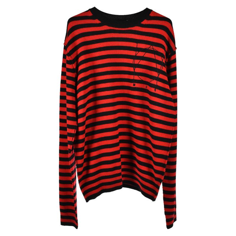Alexander Mcqueen Trovaprezzinuovo Black And Red Striped Sweater