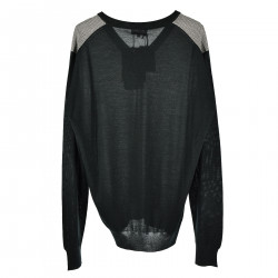BLACK MICROFANTASY LONG SLEEVES SWEATER