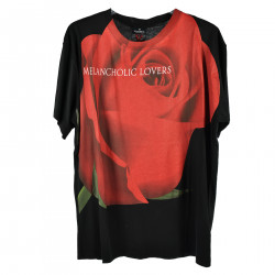 T SHIRT NERA CON STAMPA FRONTALE ROSA