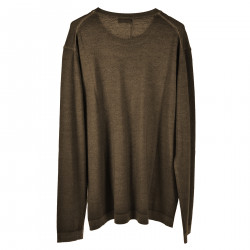 PULLOVER TAUPE IN LANA