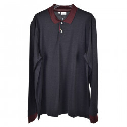 LONG SLEEVES POLO WITH CONTRAST COLLAR