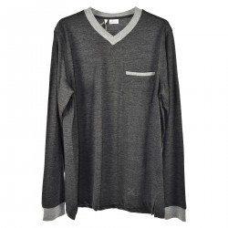 ANTHRACITE V NECK SWEATER