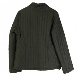 MILITARY GREEN QUILTED BLAZER
