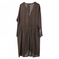 BROWN TARTAN DRESS