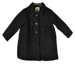 CAPPOTTO NERO CON STRASS BRILLANTINOSI