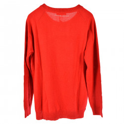 RED LONG SLEEVES SWEATER IN WHALES FANTASY