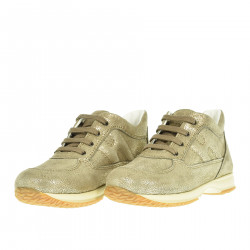GOLD LEATHER SNEAKER