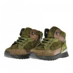 GREEN CAMOUFLAGE SUEDE SNEAKER