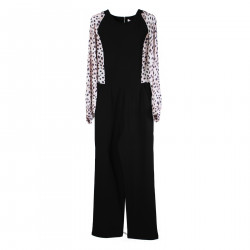 BLACK JAMSUIT WITH PINK ANIMALIER INSERTS