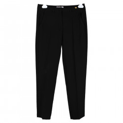 BLACK TROUSERS WITH HEART PLATE