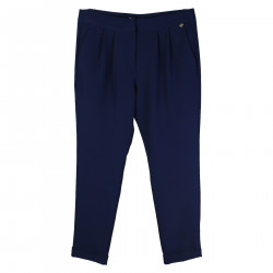 BRIGHT BLUE TROUSER WITH FRONTAL FOLDS