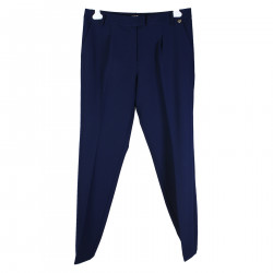 BRIGHT BLUE TROUSER WITH HEART PLATE