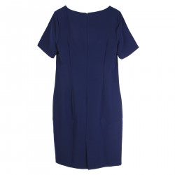 BLU DRESS WITH FRONTAL DRAPING