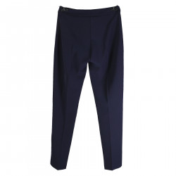 DARK BLUE TROUSER WITH LATERAL ZIP