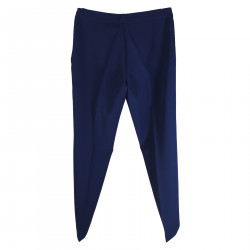 BRIGHT BLUE TROUSER WITH LATERAL ZIP