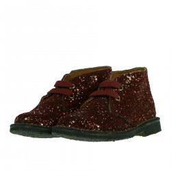 BORDEAUX GLITTERED DESERT BOOTS