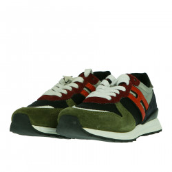 SNEAKER IN CAMOSCIO MULTICOLOR
