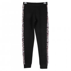 BLACK TROUSERS WITH PINK ANIMALIER INSERTS
