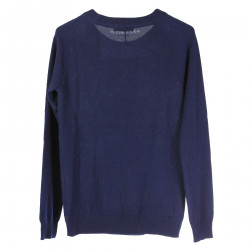 BLUE LONG SLEEVES SWEATER IN WHALES FANTASY