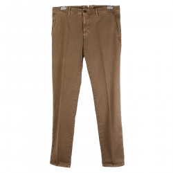 PANTALONE MARRONE A RIGHE