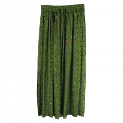 GREEN SKIRT WITH STARS AND POIS