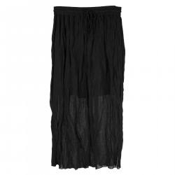 BLACK LONG SKIRT FEDE MODEL