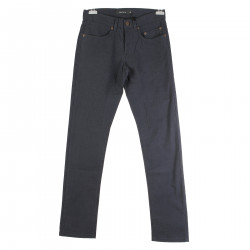 BLUE TROUSERS WITH SEAMS DETAILS