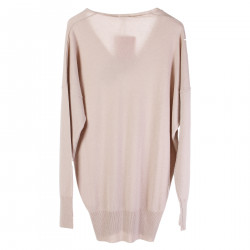 PULLOVER OVERSIZE BEIGE IN CASHMERE
