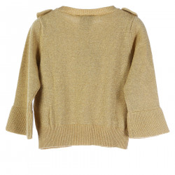 GOLD GLITTERY SWEATER WITH FLOUNCES