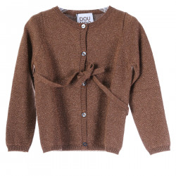 BROWN GLITTERY CARDIGAN