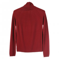 PULLOVER BORDEAUX IN CASHMERE