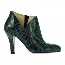 GREEN AND BLUE LEATHER BOOT