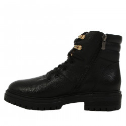 BLACK BOOT WITH GOLD STUDS
