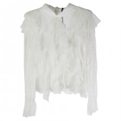 BLUSA BIANCA IN PIZZO