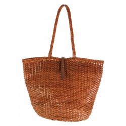 WEAVE BUCKET BROWN BAG