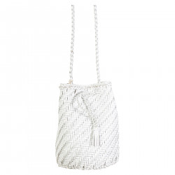 POM POM DOUBLE JUMP BAG BIANCA