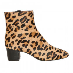 STIVALETTO LEOPARDATO IN CAVALLINO