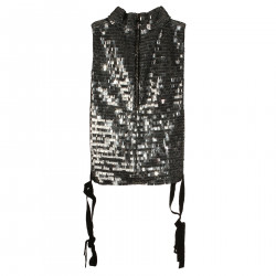 TOP IN PAILLETTES CROMATE